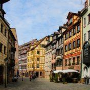 Die Altstadt in Nürnberg.
